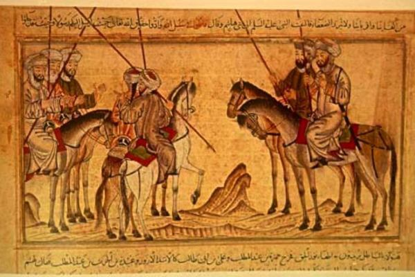 Mohammed_before_the_battle_of_Badr